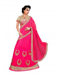 Vipul Multicoloured Net Saree with blouse piece (Code - 3021)