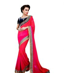 Vipul Multicoloured Georgette Saree with blouse piece (Code - 3026)