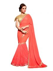 Vipul Multicoloured Georgette Saree with blouse piece (Code - 3118)