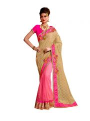 Vipul Multicoloured Net Saree with blouse piece (Code - 3305)