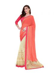 Vipul Multicoloured Georgette Saree with blouse piece (Code - 3515)