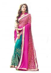 Ruchika Fashion Half Half Georgette Saree-13803