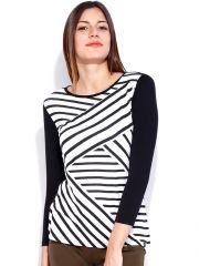 TARAMA WHITE & BLACK color TOP for women