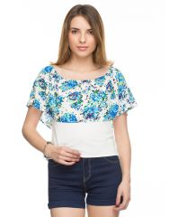 TARAMA Floral Print Top for womens. TDT918