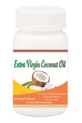 Hawaiian herbal extra virgin coconut oil softgel capsule 60 softgels