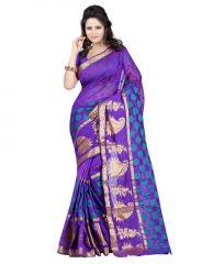 Ansu Fashion Blue Banarasi Silk Sarees - Af_268-b