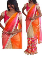 Try N Get's Multi Color Net Fancy Designer Saree (product Code - Tng-sjnx-nx-40)