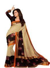 Silk Sarees - Dlines Multicolor Bhagalpuri Silk Cotton Saree (code - Sum0077)