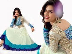 Sky Blue Georgette Embroidered Designer Anarkali Suit