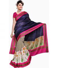 Alvirafab Multicolor Bhagalpuri Printed Saree (code - Rimzim_blue)