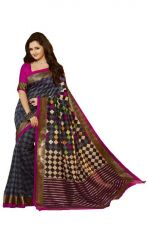 Aar Vee Multi Colour Bhagalpuri Silk & Block Printed Design Saree