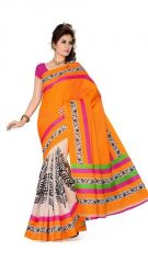Vishal Silk Sarees - Vishal Fashion Multicolor Bhagalpuri Silk Saree With Blouse - Vf-128
