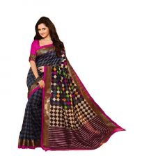 Kalazone Silk Sarees - Kalazone Multi Color Bhagalpuri Art Silk Casual Wear Saree - (product Code - Es1412)