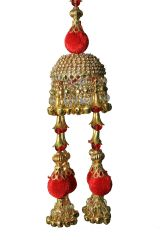Parecido Designer Traditional Wedding Kaleere Set In Golden And Red Color For Women (PC-WK5)