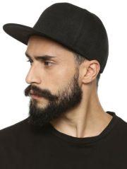 Solid Black Hip Hop Cap Baseball Snapbacks Cap Hat Adjustable Free Size