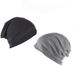 COMBO Beanie Skull Slouchy Cotton Cap  (Pack of 2)