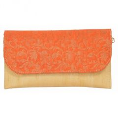 Azzra Orange Ethnic Orange Sling Clutch  (Code - AWSL0115-ORNG)