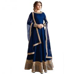 Bollywood replica anarkali suits and salwar kameez - Bollywood replica DRASHTI DHAMI  BLUE COLOR LATEST INDIAN DESIGNER ANARKALI SALWAR KAMEEZ DRESS - 114F4F04DM