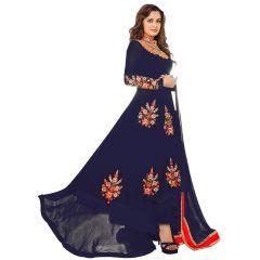 Bollywood Replica Dia Mirza Blue Georgette Indian Stylish Bollywood Designer Anarakli Wedding Party Salwar Kameez.- 136F4F02DM