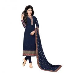 Bollywood Replica PARTY WEAR GRACEFUL BLUE GEORGETTE PARTY WEAR SALWAR KAMEEZ  (COD - 148F4F04DM)