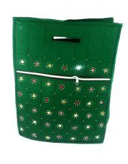 irin Handcrafted Green Cotton Shopping Bag