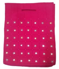 Irin Handcrafted Pink Cotton Shopping Bag