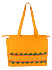 Irin Handcrafted Yellow Cotton Shopping Bag