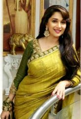 Try And Get Bollywood Replica Madhuri Dixit Green Fancy Designer Saree