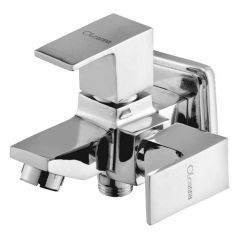 OLEANNA SQUARE BRASS 2 IN1 BIB COCK SILVER Taps & Faucets