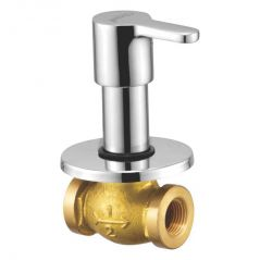 OLEANNA ORANGE BRASS CONCEALED STOP COCK  SILVER Taps & Fittings