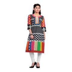 Zola Latest Designer Cotton Black Printed Kurti (Product Code - 279162)
