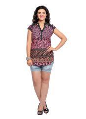 Shirts (Women's) - Zola Womens Designer Cotton Pink Printed Shirt (Product Code - 439015)