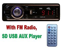 Electronics for cars and bikes - Car Stereo Multimedia Player With FM Player And USB SD AUX IN Slots