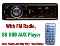 Car Stereo Multimedia Player With FM Player And USB SD AUX IN Slots