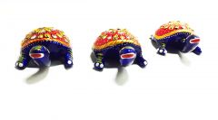 Mariyam Table Top gift Pair of Tortoise three piece set Showpiece