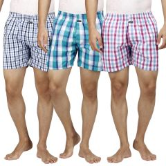 Boxers (Men's) - Boxers Pack Of 3 Assorted Colors By Inspire