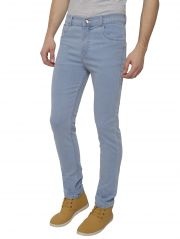 Inspire Men's Ice Blue Stretchable Slim Fit Jeans