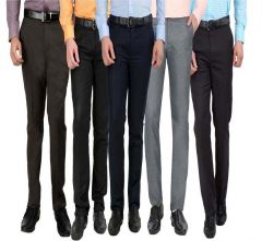 Gwalior Men's Formal Trouser Pack Of 5