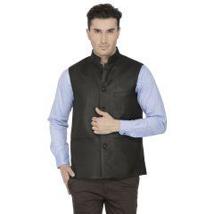 Inspire Black Linen Modi Jacket