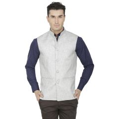 Inspire Grey Linen Modi Jacket