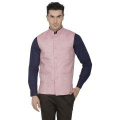 Inspire Pink Linen Modi Jacket