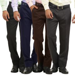 Gift Or Buy GWALIOR PACK OF 4 STITCHED FORMAL TROUSERS