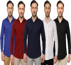 Inspire Men's Casual Shirts Pack Of 5