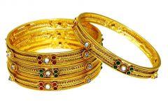 LA TRENDZ Wedding Wear Multicolour Royal Bangles For Women(lt2457)