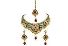La Trendz Gold Bridal Necklace Set(LT1416)