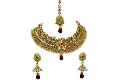 La Trendz Gold Style Diva Necklace Set(LT1438)