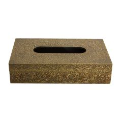 WOODEN AND METAL FINISHED TISSUE BOX DISPENSER