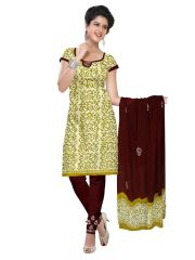 PADMiNi Unstitched Printed Cotton Dress Material (Product Code - DTBJBATIKLIGHT7003)