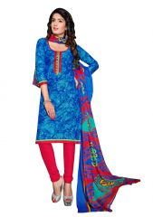 PADMiNi Unstitched Printed Cotton Dress Material (Product Code - DTSJEXOTICA1006)