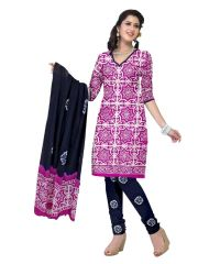 PADMiNi Unstitched Printed Cotton Dress Material (Product Code - DTBJBATIKLIGHT7010)